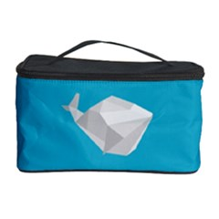 Animals Whale Blue Origami Water Sea Beach Cosmetic Storage Case