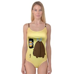 Bear Meet Bee Honey Animals Yellow Brown Camisole Leotard