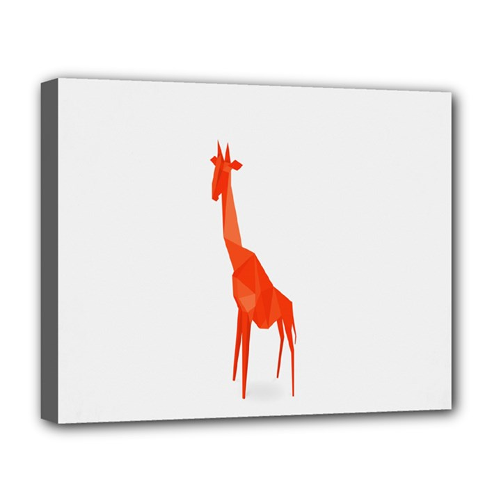 Animal Giraffe Orange Deluxe Canvas 20  x 16
