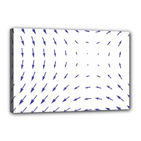 Arrows Blue Canvas 18  X 12  by Alisyart