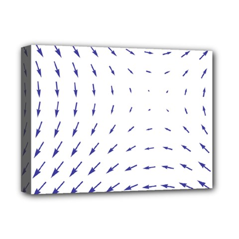 Arrows Blue Deluxe Canvas 16  X 12