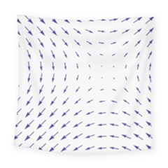 Arrows Blue Square Tapestry (large)