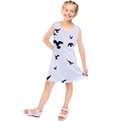 Bird Fly Black Kids  Tunic Dress
