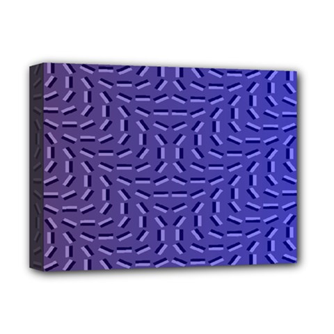 Calm Wave Blue Flag Deluxe Canvas 16  X 12