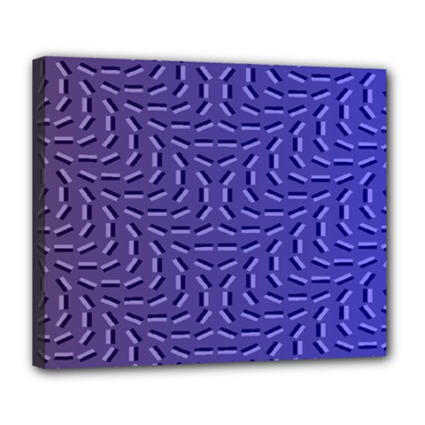 Calm Wave Blue Flag Deluxe Canvas 24  X 20