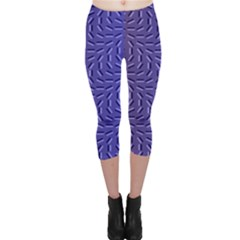 Calm Wave Blue Flag Capri Leggings