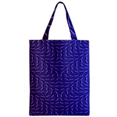 Calm Wave Blue Flag Zipper Classic Tote Bag by Alisyart