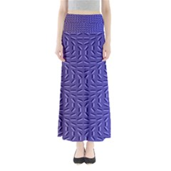 Calm Wave Blue Flag Maxi Skirts