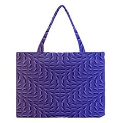 Calm Wave Blue Flag Medium Tote Bag