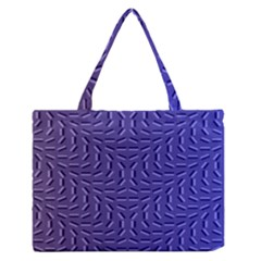 Calm Wave Blue Flag Medium Zipper Tote Bag by Alisyart