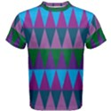 Blue Greens Aqua Purple Green Blue Plums Long Triangle Geometric Tribal Men s Cotton Tee View1