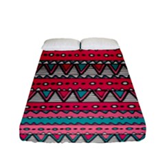 Aztec Geometric Red Chevron Wove Fabric Fitted Sheet (full/ Double Size) by Alisyart
