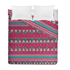 Aztec Geometric Red Chevron Wove Fabric Duvet Cover Double Side (full/ Double Size) by Alisyart