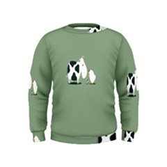 Cow Chicken Eggs Breeding Mixing Dominance Grey Animals Kids  Sweatshirt