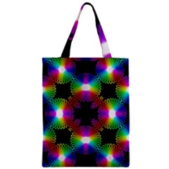Circle Color Flower Zipper Classic Tote Bag by Alisyart