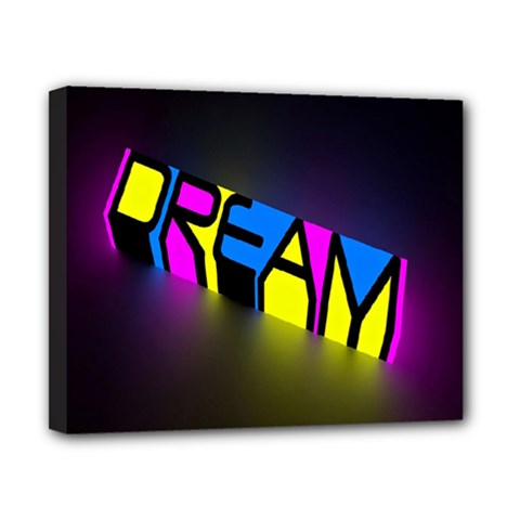 Dream Colors Neon Bright Words Letters Motivational Inspiration Text Statement Canvas 10  X 8  by Alisyart