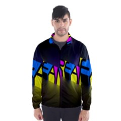 Dream Colors Neon Bright Words Letters Motivational Inspiration Text Statement Wind Breaker (men)