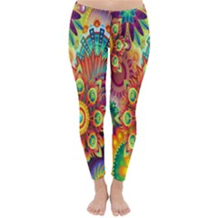 Colorful Abstract Flower Floral Sunflower Rose Star Rainbow Classic Winter Leggings