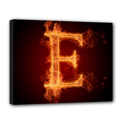 Fire Letterz E Canvas 14  X 11