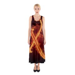 Fire Letterz X Sleeveless Maxi Dress