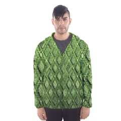 Circle Square Green Stone Hooded Wind Breaker (men) by Alisyart