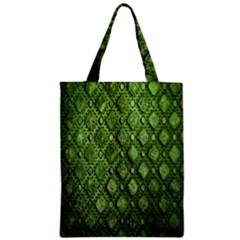 Circle Square Green Stone Zipper Classic Tote Bag by Alisyart