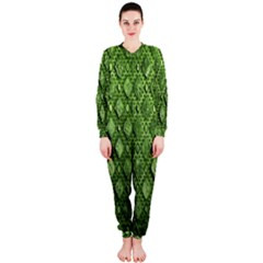 Circle Square Green Stone Onepiece Jumpsuit (ladies)