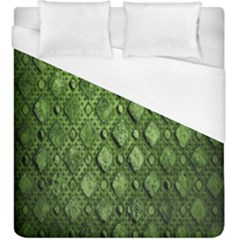 Circle Square Green Stone Duvet Cover (king Size) by Alisyart