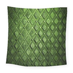 Circle Square Green Stone Square Tapestry (large)