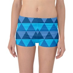Geometric Chevron Blue Triangle Reversible Bikini Bottoms