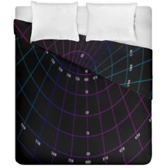 Formula Number Line Purple Natural Duvet Cover Double Side (california King Size) by Alisyart