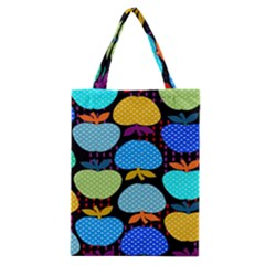Fruit Apples Color Rainbow Green Blue Yellow Orange Classic Tote Bag by Alisyart