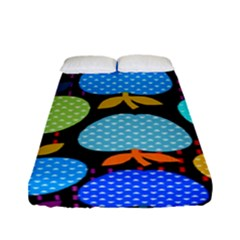 Fruit Apples Color Rainbow Green Blue Yellow Orange Fitted Sheet (full/ Double Size) by Alisyart