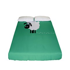 Goat Sheep Green White Animals Fitted Sheet (full/ Double Size) by Alisyart