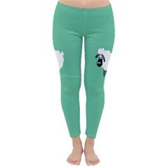 Goat Sheep Green White Animals Classic Winter Leggings