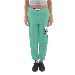 Goat Sheep Green White Animals Women s Jogger Sweatpants