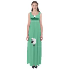 Goat Sheep Green White Animals Empire Waist Maxi Dress