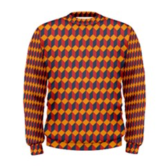 Geometric Plaid Red Orange Men s Sweatshirt