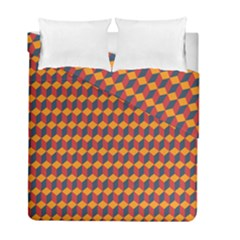 Geometric Plaid Red Orange Duvet Cover Double Side (full/ Double Size) by Alisyart