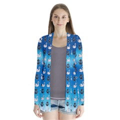 Goose Swan Anchor Blue Cardigans