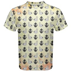 Goose Swan Anchor Gold Men s Cotton Tee