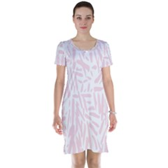 Graffiti Paint Pink Short Sleeve Nightdress by Alisyart