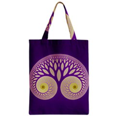 Glynnset Royal Purple Zipper Classic Tote Bag by Alisyart