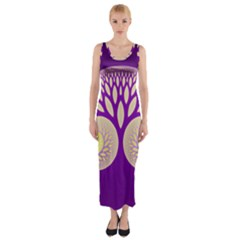 Glynnset Royal Purple Fitted Maxi Dress by Alisyart