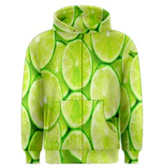 Green Lemon Slices Fruite Men s Zipper Hoodie