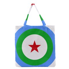 Roundel Of Djibouti Air Force Grocery Tote Bag by abbeyz71