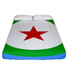 Roundel Of Djibouti Air Force Fitted Sheet (king Size) by abbeyz71