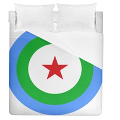 Roundel Of Djibouti Air Force Duvet Cover (queen Size) by abbeyz71