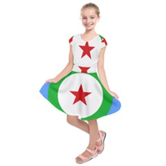 Roundel Of Djibouti Air Force Kids  Short Sleeve Dress by abbeyz71