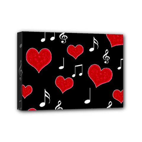 Love Song Mini Canvas 7  X 5  by Valentinaart